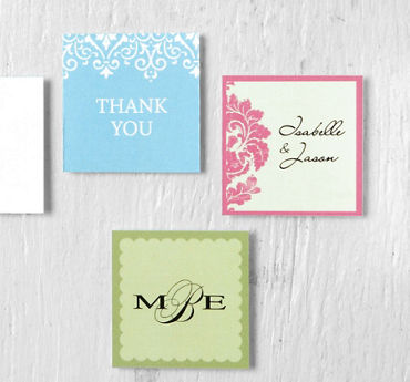Printable Square Favor Tags