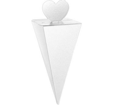 White Cone Favor Boxes 50ct