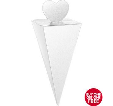 White Cone Favor Boxes 50ct