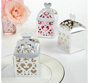 Silver Lantern Favor Boxes