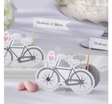 Vintage Bicycle Wedding Favor Boxes