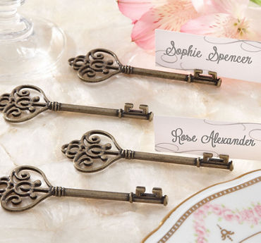 Antique Key Place Card Holders