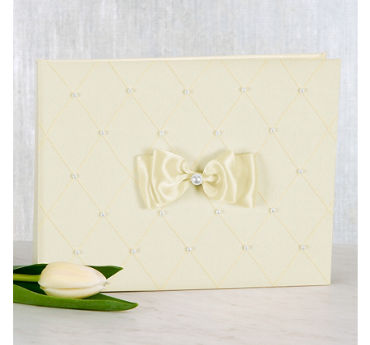 Ivory Wedding Guest Book Set 3pc