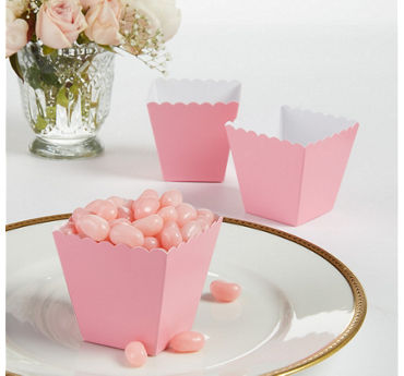 Pink Scalloped Favor Boxes 100ct