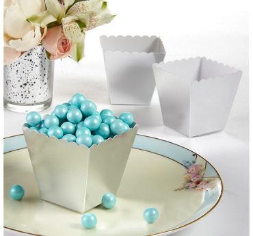 Silver Scalloped Favor Boxes