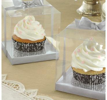 Silver Individual Cupcake Boxes