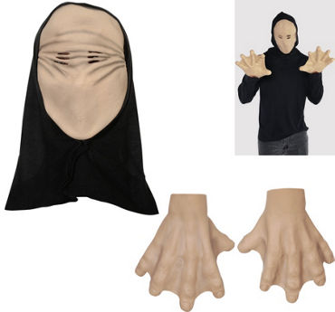 Hooded Faceless Mask & Hands
