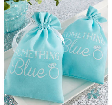 Something Blue Muslin Favor Bags