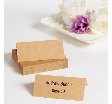 Kraft Printable Place Cards 48ct