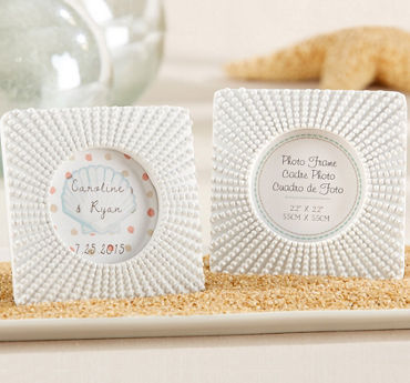 White Sea Urchin Photo Frame Place Card Holder