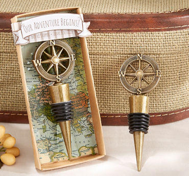 Gold Compass Wine Stopper