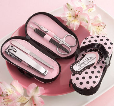 Polka Dot Flip Flop Pedicure Set