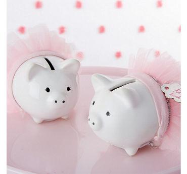 Pink Tutu Piggy Bank
