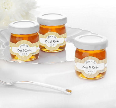 Personalized Glass Honey Jars (Printed Label)