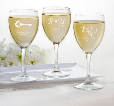 Personalized Wine Glasses (Printed Glass)