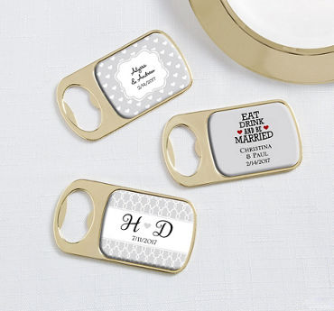 Personalized Bottle Openers - Gold (Printed Epoxy Label)