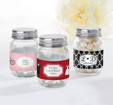 Personalized Mini Glass Mason Jars (Printed Label)