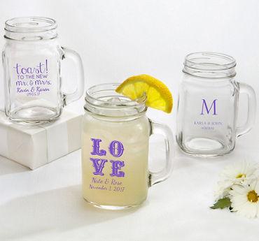 Personalized Mason Jar Mugs (Printed Glass)