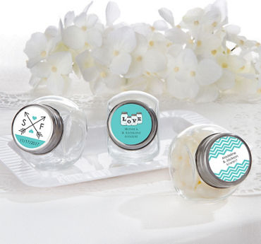 Personalized Glass Candy Jars (Printed Label)