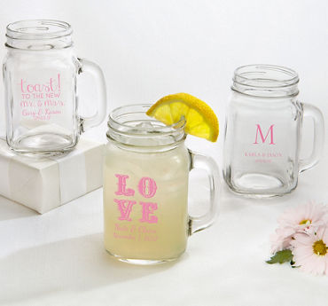 Personalized Mason Jar Mugs (Printed Glass)