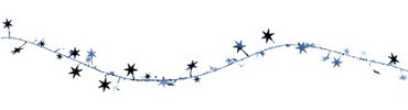 Blue Star Wire Garland 12ft