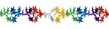 Multicolor Foil Star Garland 15ft