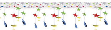 Jewel Tone New Years Ceiling Decoration 10ft