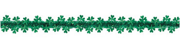 Prismatic Shamrocks Tinsel Garland 20ft