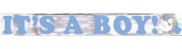It's a Boy Metallic Baby Shower Banner 15ft