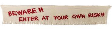 Beware Fabric Banner