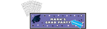 Purple Personalized Graduation Banner 65in