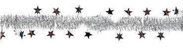 Silver Star Tinsel Garland