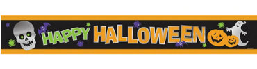 Foil Halloween Banner 9ft