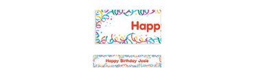 Party Streamers Custom Birthday Banner