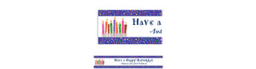 Hanukkah Playful Menorah Custom Banner 6ft
