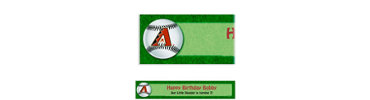 Arizona Diamondbacks Custom Banner 6ft
