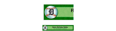 Detroit Tigers Custom Banner 6ft