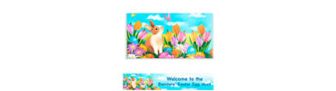 Garden Bunny Custom Easter Banner 6ft