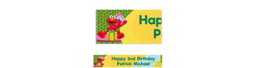 Elmo Birthday Custom Birthday Banner 6ft