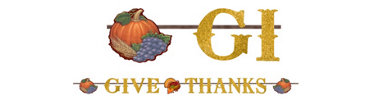 Thanksgiving Glitter Letter Ribbon Banner 12ft