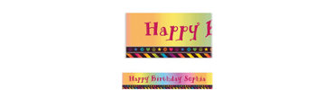 Neon Birthday Girl Custom Banner 6ft