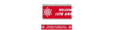 Holiday Dots & Stripes Custom Banner 6ft
