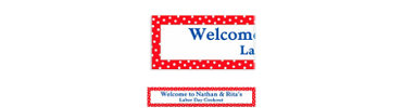 Red Polka Dot Custom Banner 6ft