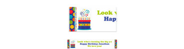 Birthday Fever Fun Custom Banner 6ft