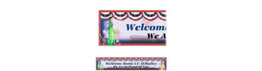 Flying Colors Welcome Home Custom Banner 6ft