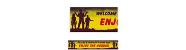 Beware Zombies Custom Halloween Banner 6ft