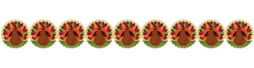 Printed Paper Turkey Garland 8ft