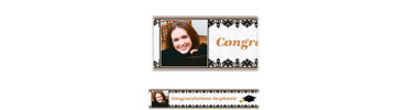 Black & White Custom Photo Banner 6ft