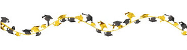 Yellow Wire Graduation Garland 12ft