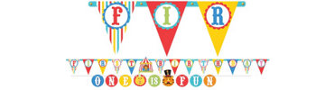 Fisher Price 1st Birthday Jumbo Letter Banner Combo Pack 2ct